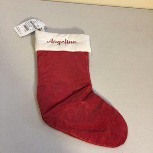 """Pottery Barn Christmas Holiday Stocking """"Angelina"""""""